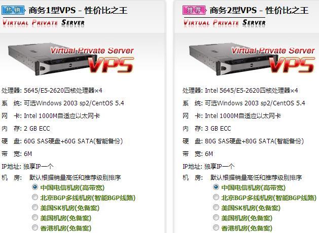 vps服务器一般都是提供商设置好不同的参数配置