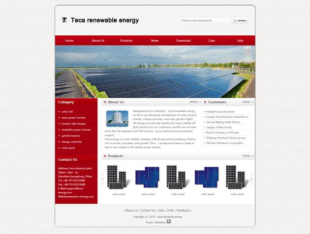 网站案例:Teca renewable energy