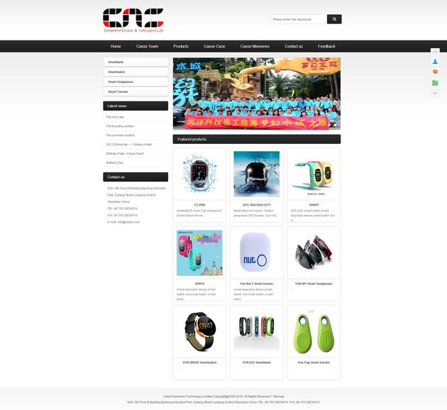 网站案例:Caeze Electronic Technology Limited