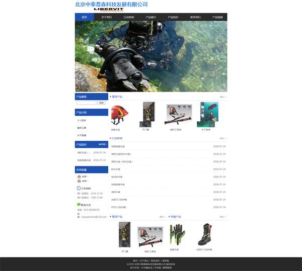 网站案例:北京中泰普森科技发展有限公司