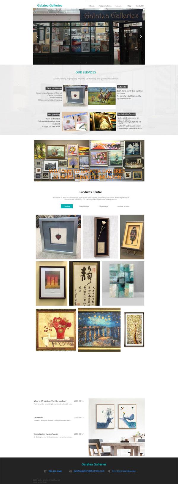网站案例:Galatea Galleries